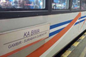 Kereta Gubeng Surabaya Purwokerto Agustus 2019